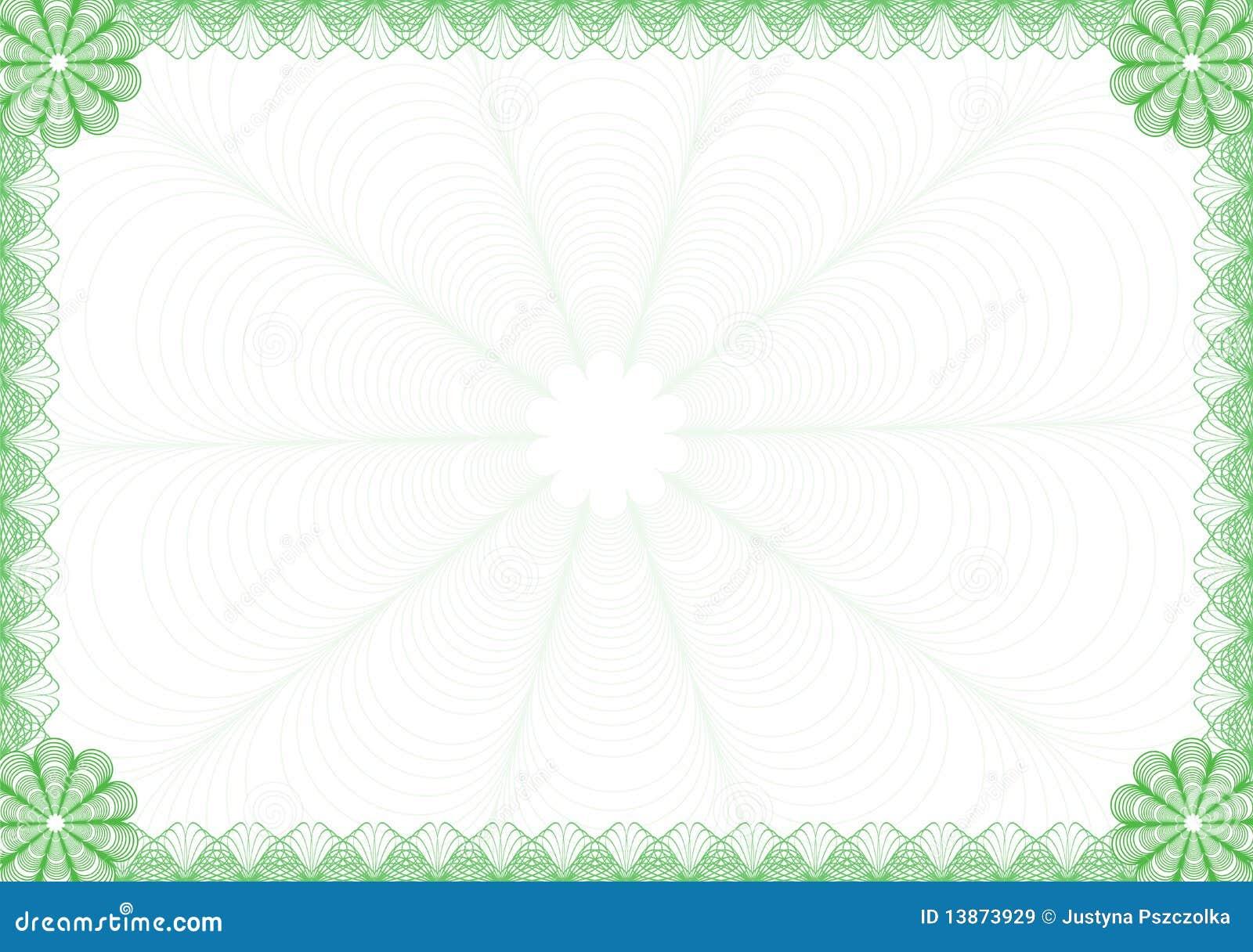 Marco del diploma ilustración del vector. Ilustración de color ...