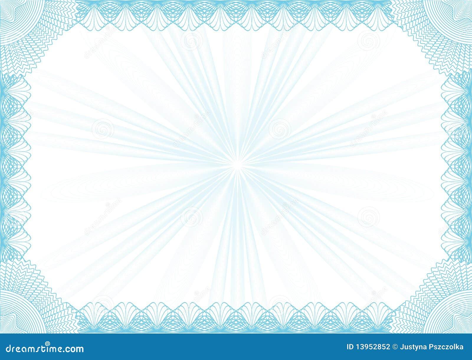 Marco del diploma ilustración del vector. Ilustración de enlace ...