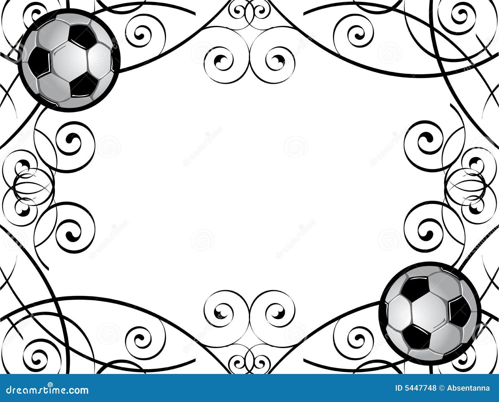 Marco De Los Balones De Fútbol Ilustración del Vector - Ilustración ...