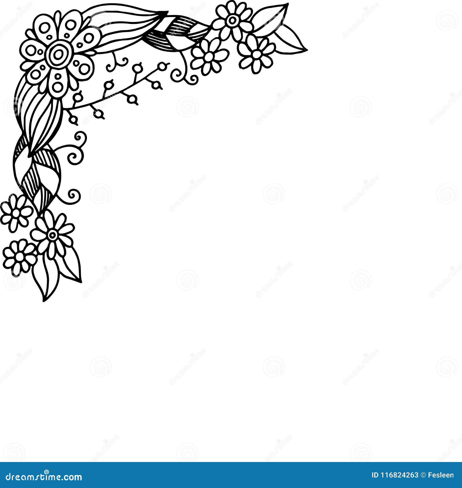 Marco Del Garabato Con Las Flores Del Verano Página Que