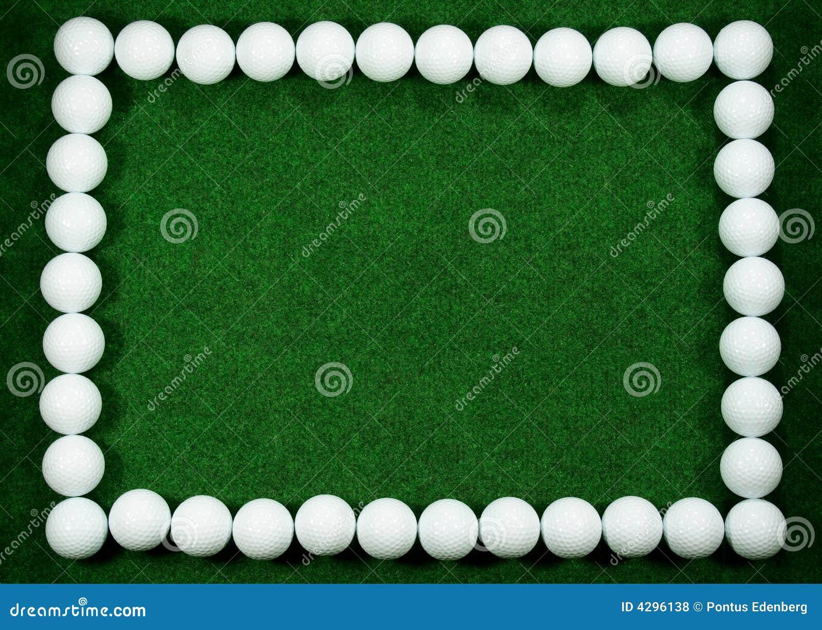 Marco del golf foto de archivo. Imagen de césped, verde - 4296138