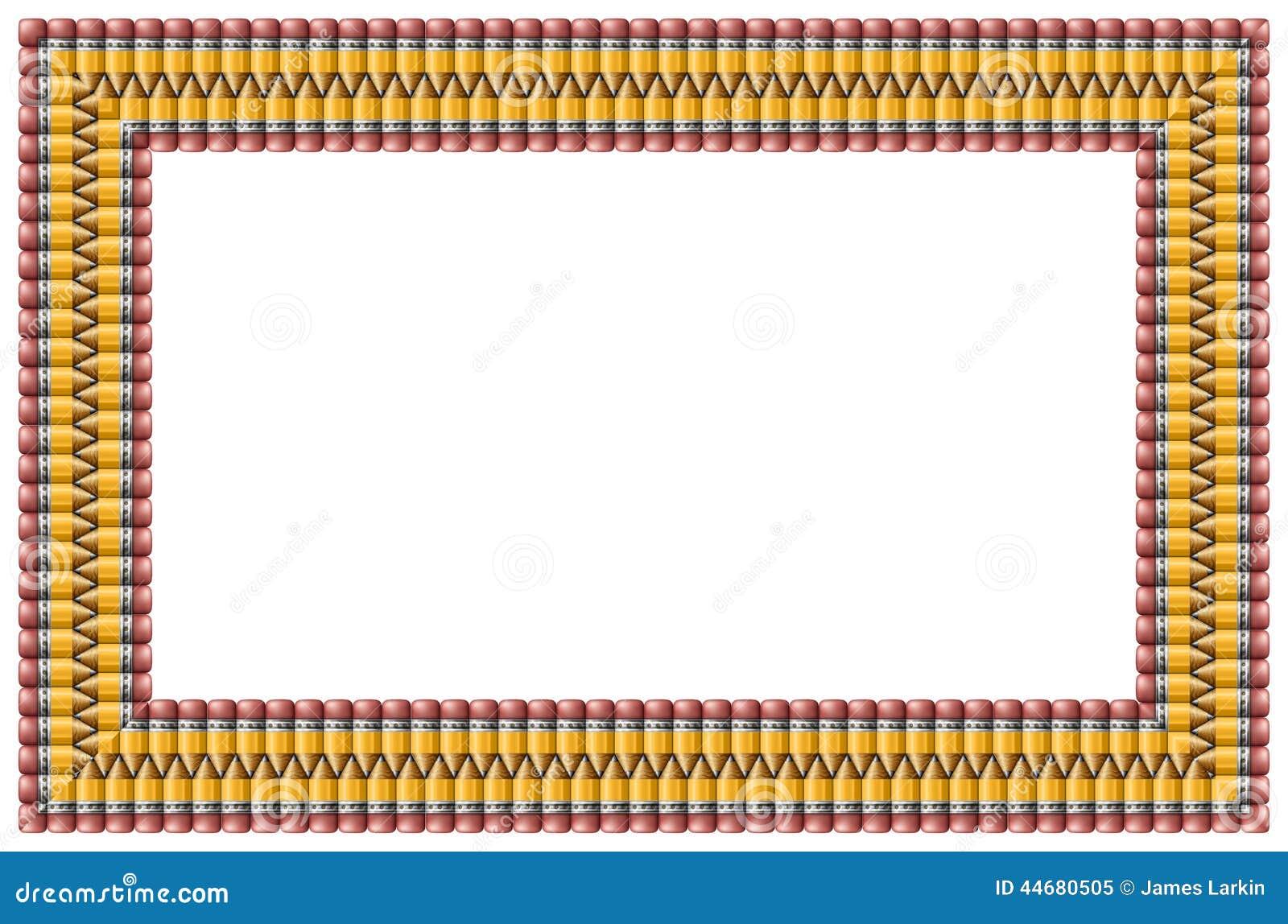 Marco del lápiz stock de ilustración. Ilustración de frontera - 44680505