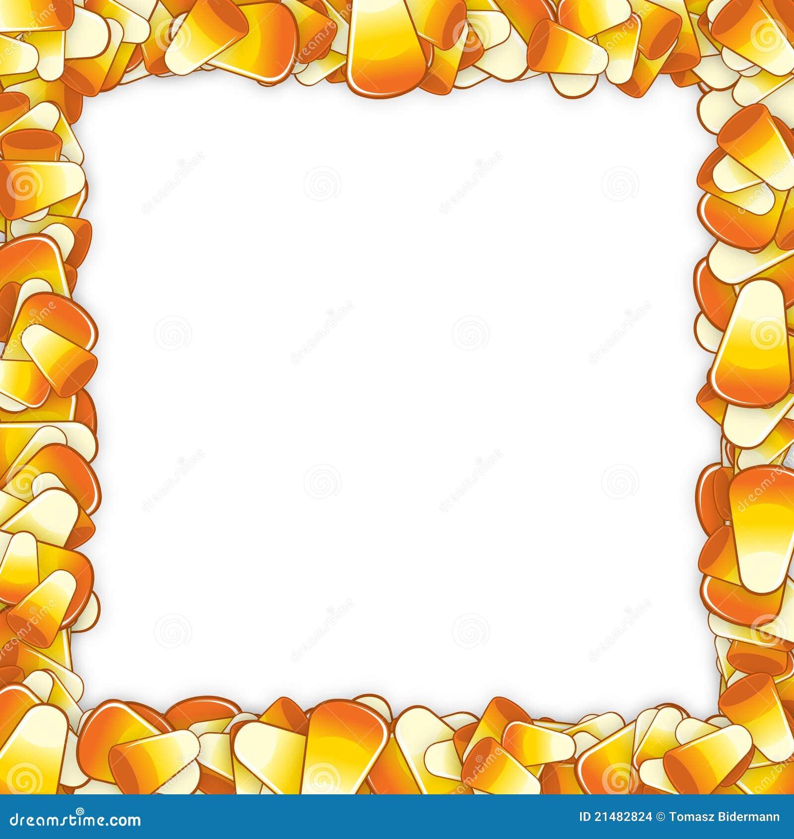 Marco del maíz de caramelo stock de ilustración. Ilustración de ...