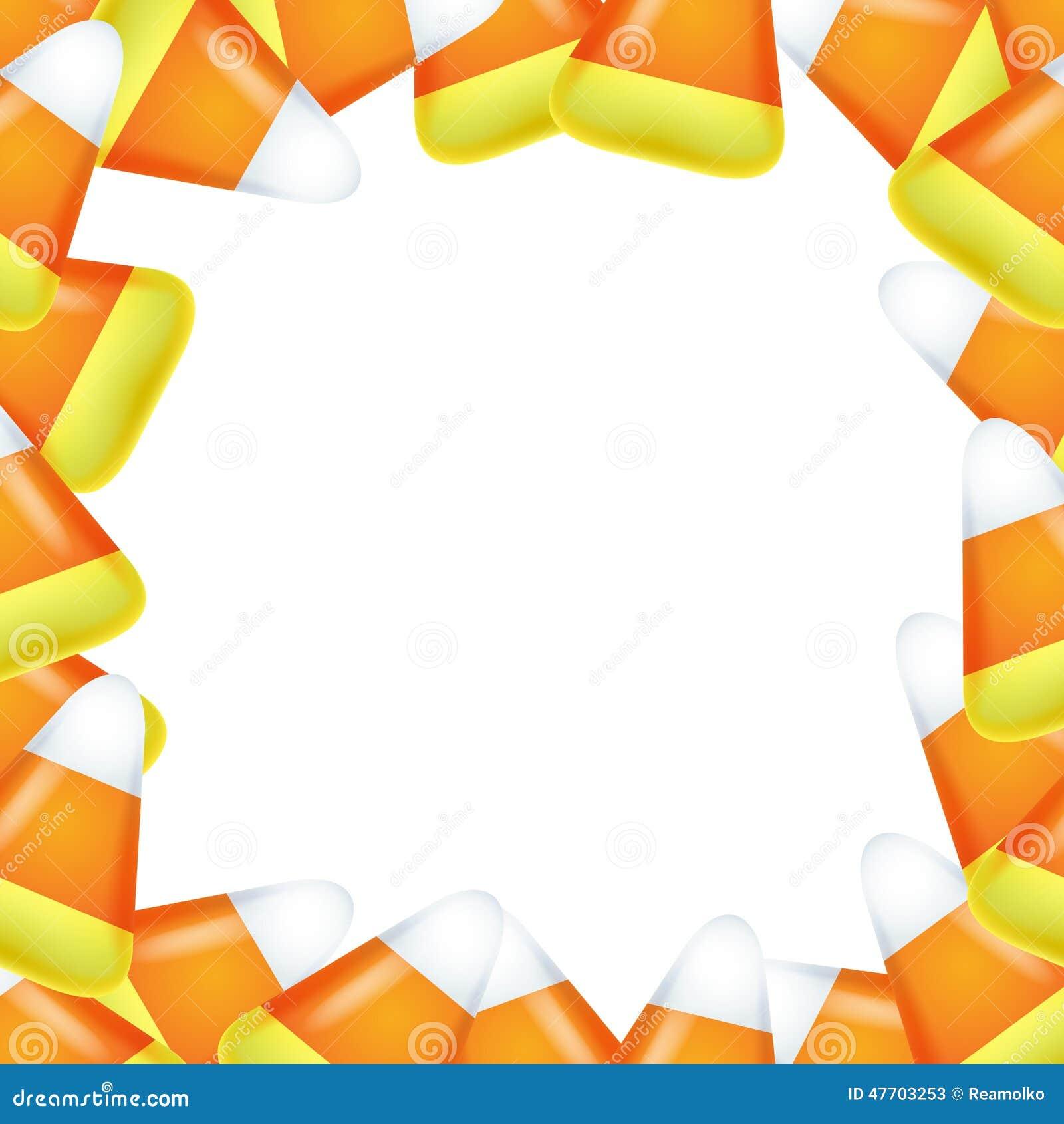 Marco del maíz de caramelo ilustración del vector. Ilustración de ...