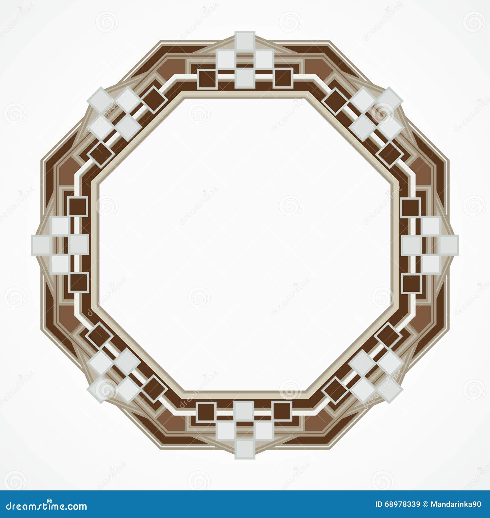 Marco del octaedro de Handmaded del mosaico