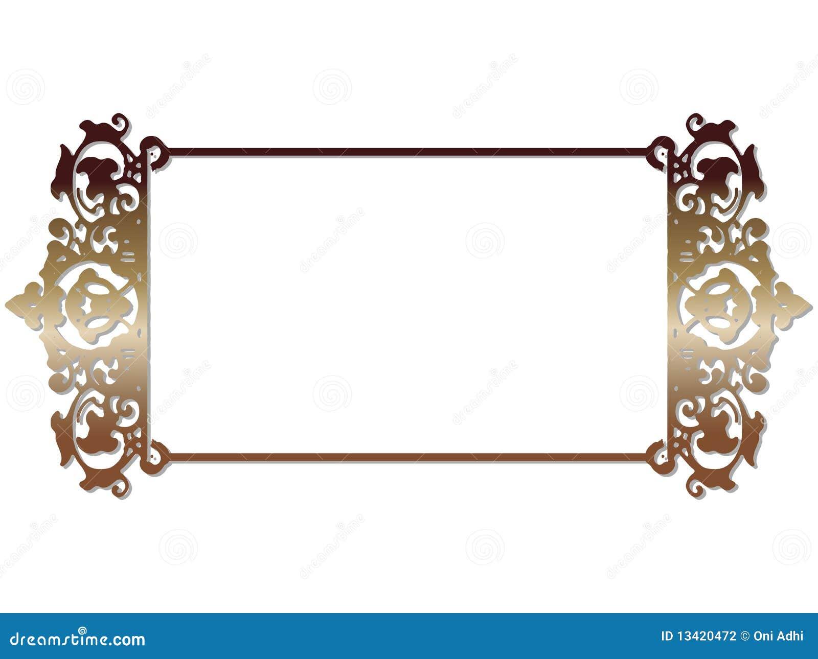 Marco Del Ornamental De Java Stock de ilustración - Ilustración de ...