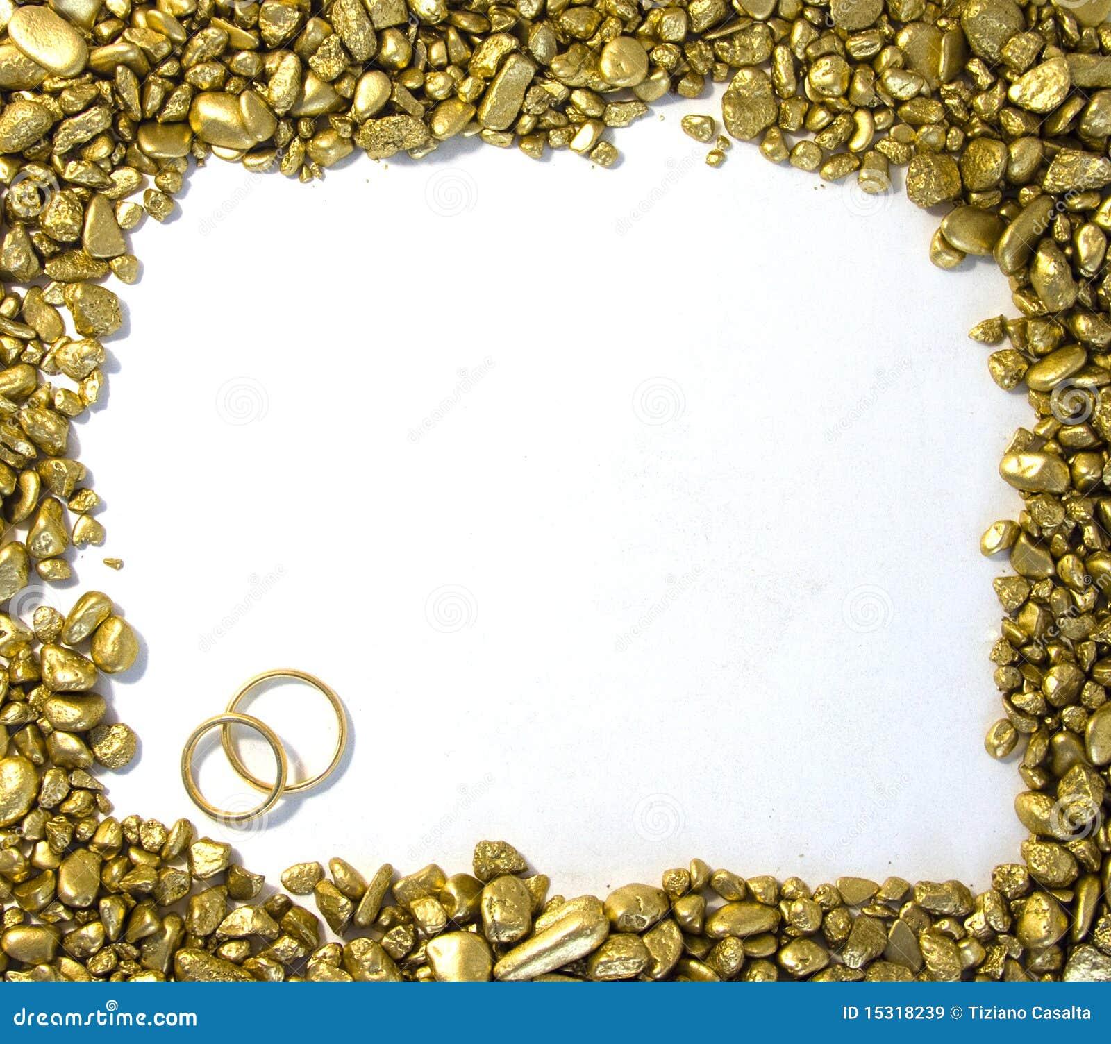 Marco del oro de la boda imagen de archivo. Imagen de decorativo ...