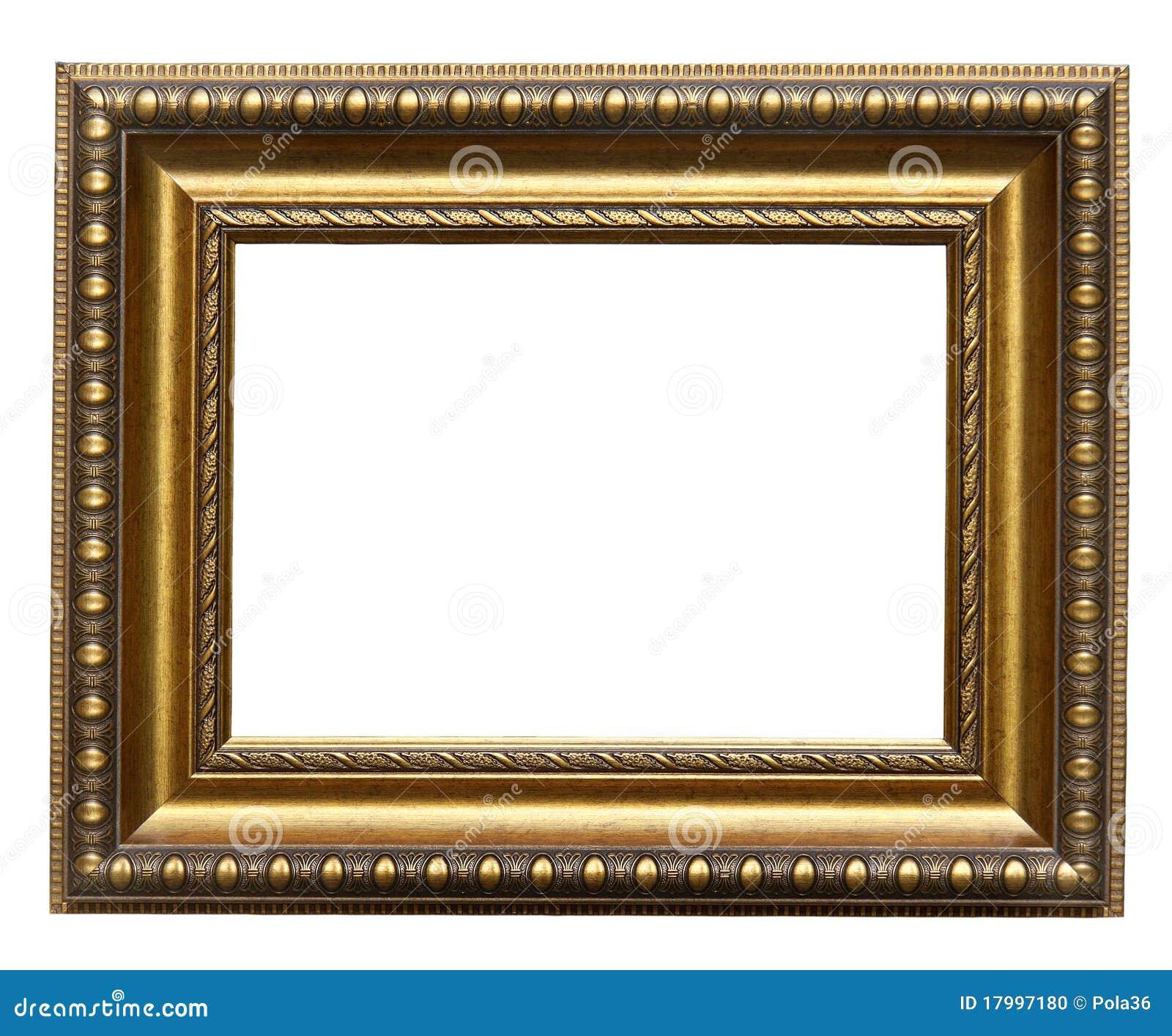 Marco del oro del cuadro foto de archivo. Imagen de galería - 17997180