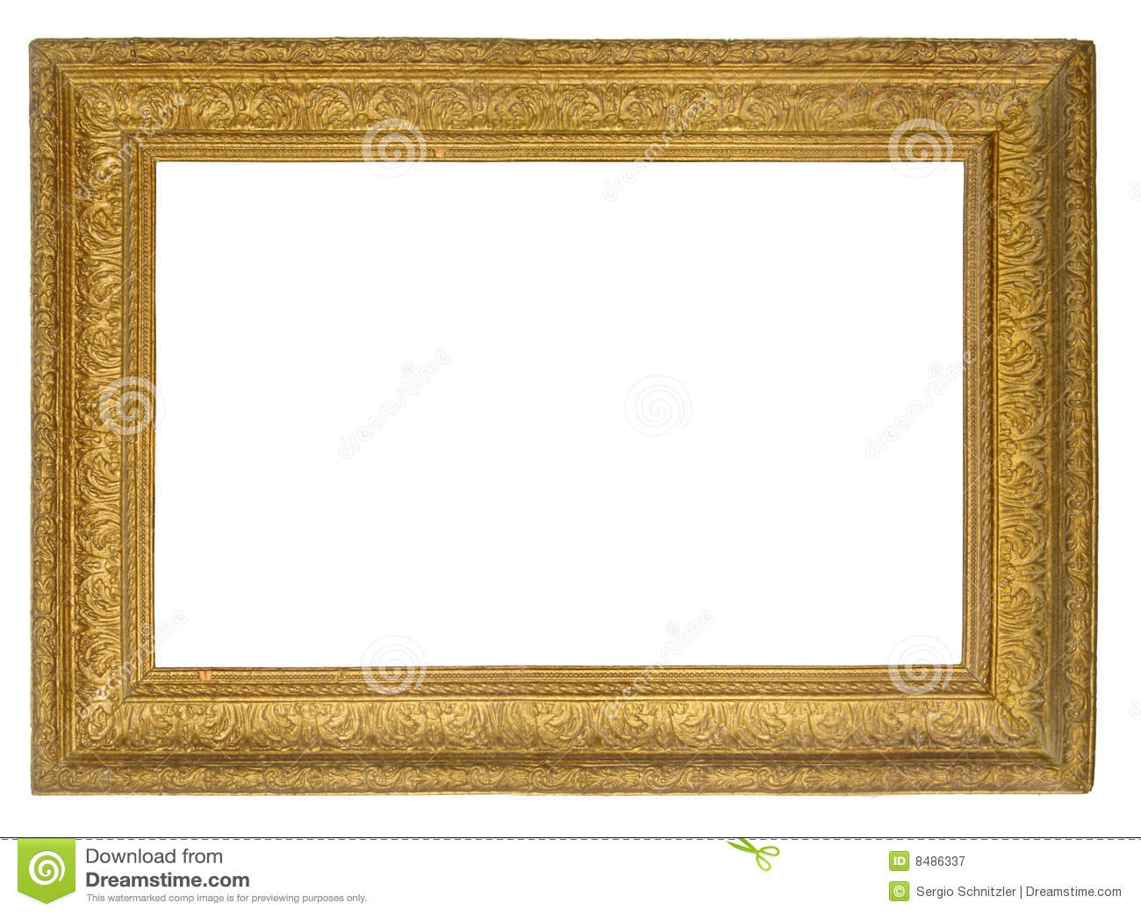 Marco del oro del cuadro fotograf a de archivo libre de Marcos de cuadros blancos