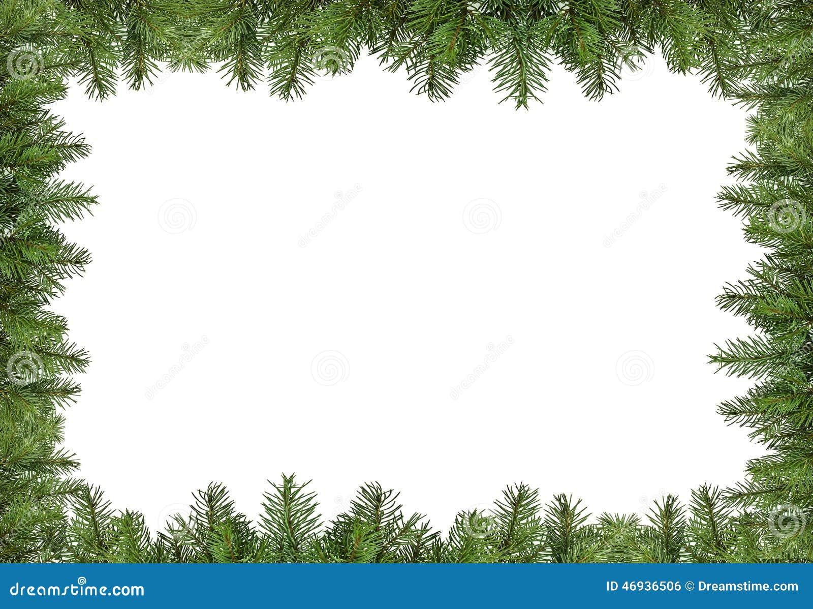 Marco Del Pino De La Navidad Stock De Ilustración