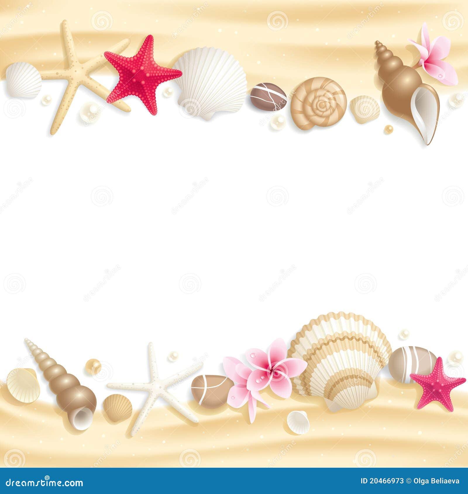 Marco del seashell imagen de archivo imagen de recorte - Marco de fotos multiple ...