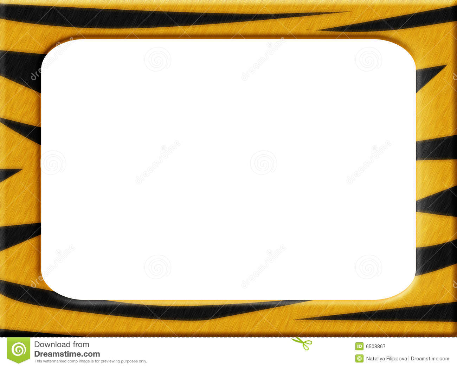 Marco del tigre stock de ilustración. Ilustración de negro - 6508867