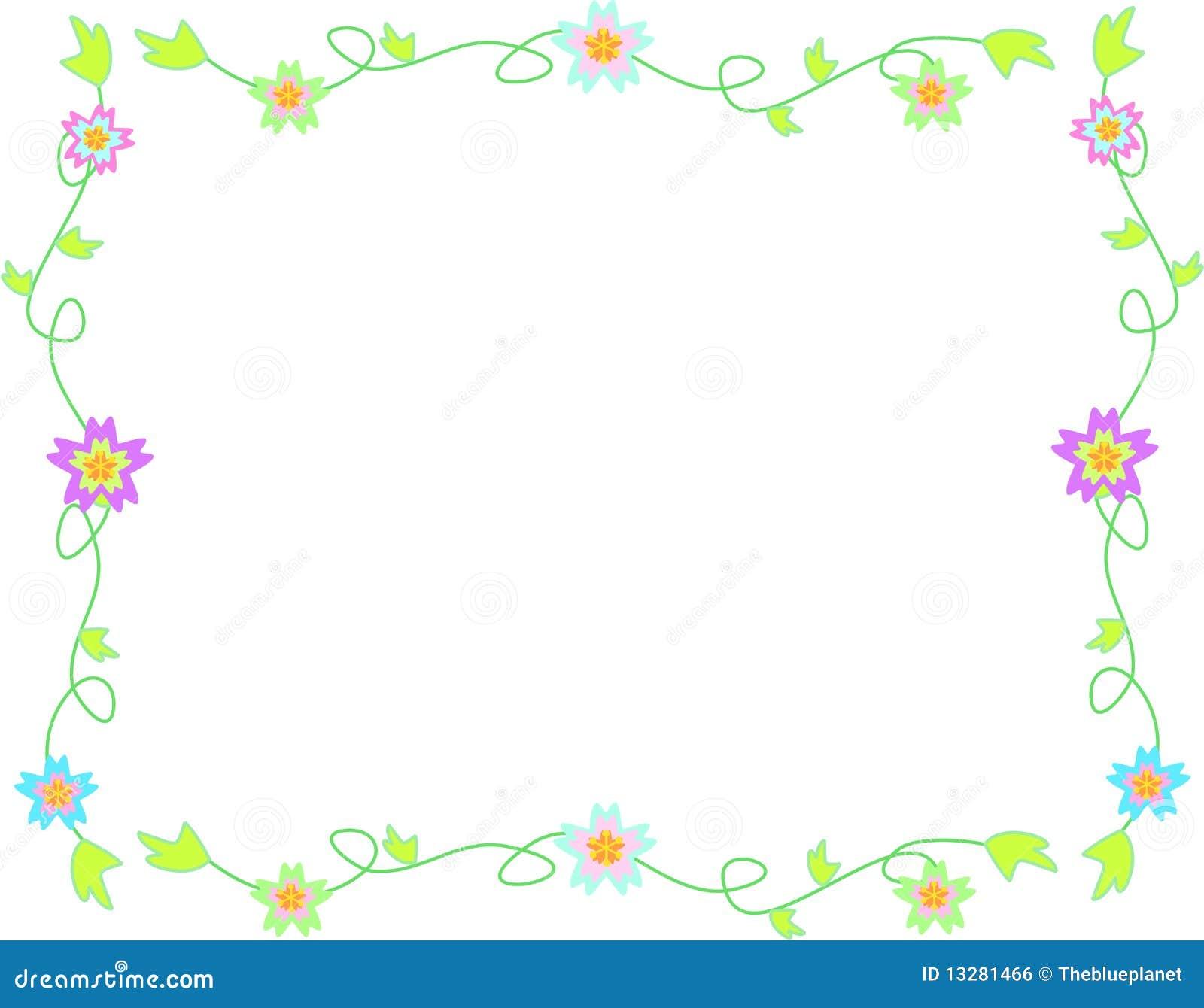 Marco delicado de flores de vides y de hojas ilustraci n - Decorar con marcos de fotos ...