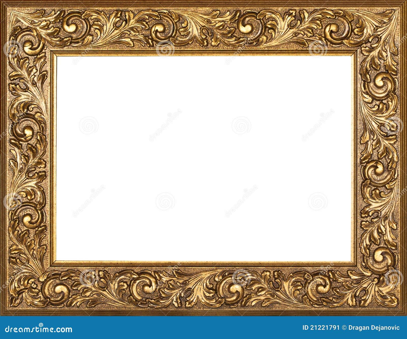 Marco dorado imagen de archivo imagen de ornamento - Marco foto antigua ...