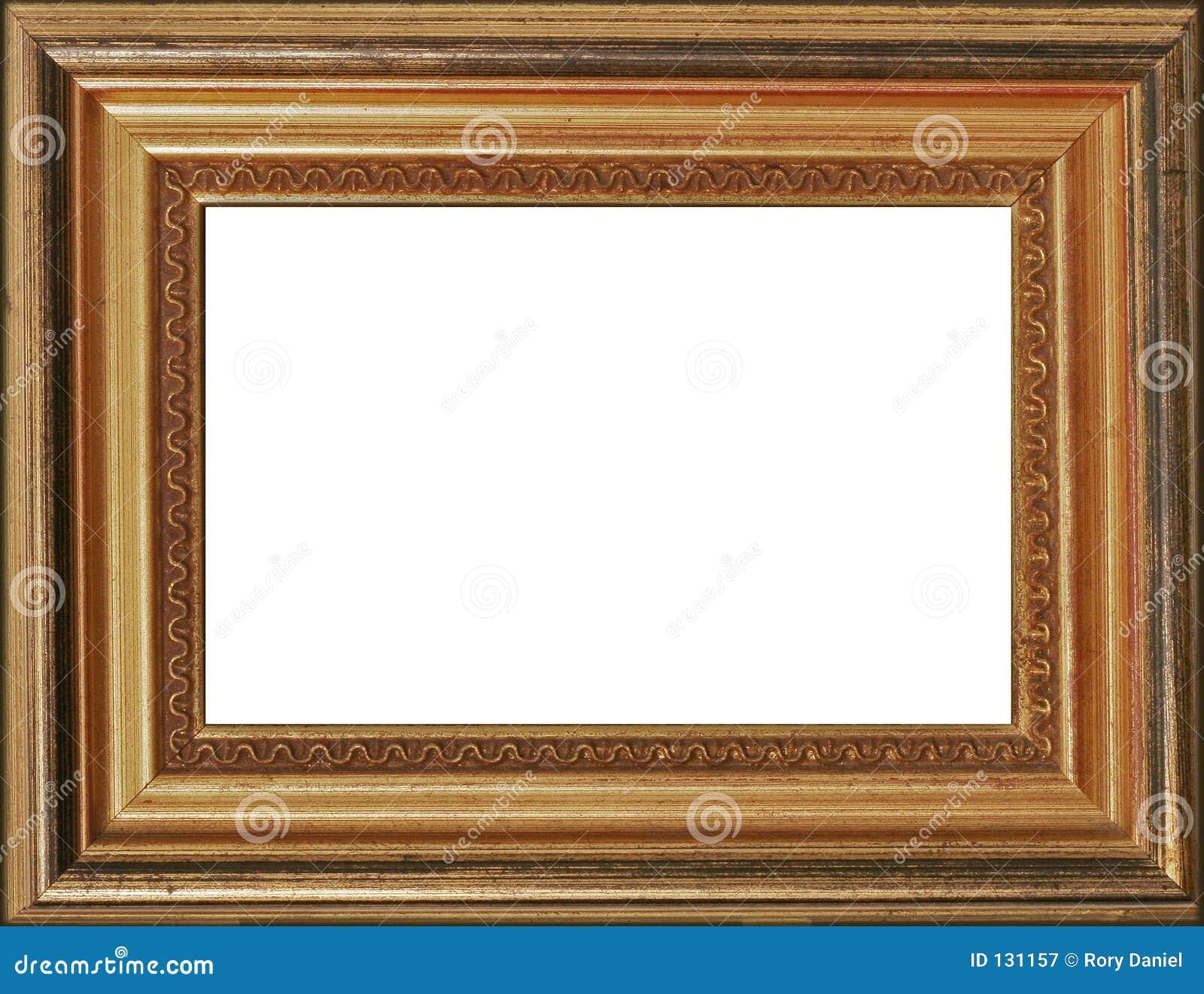 Marco dorado de la foto fotograf a de archivo libre de for Marcos para cuadros a medida