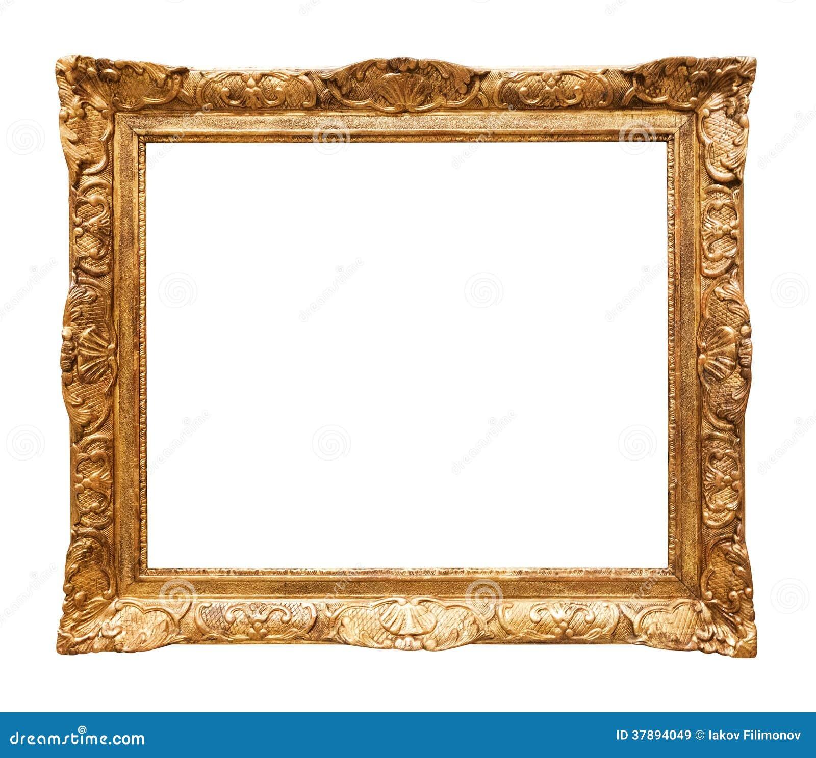 Marco dorado lujo del espejo