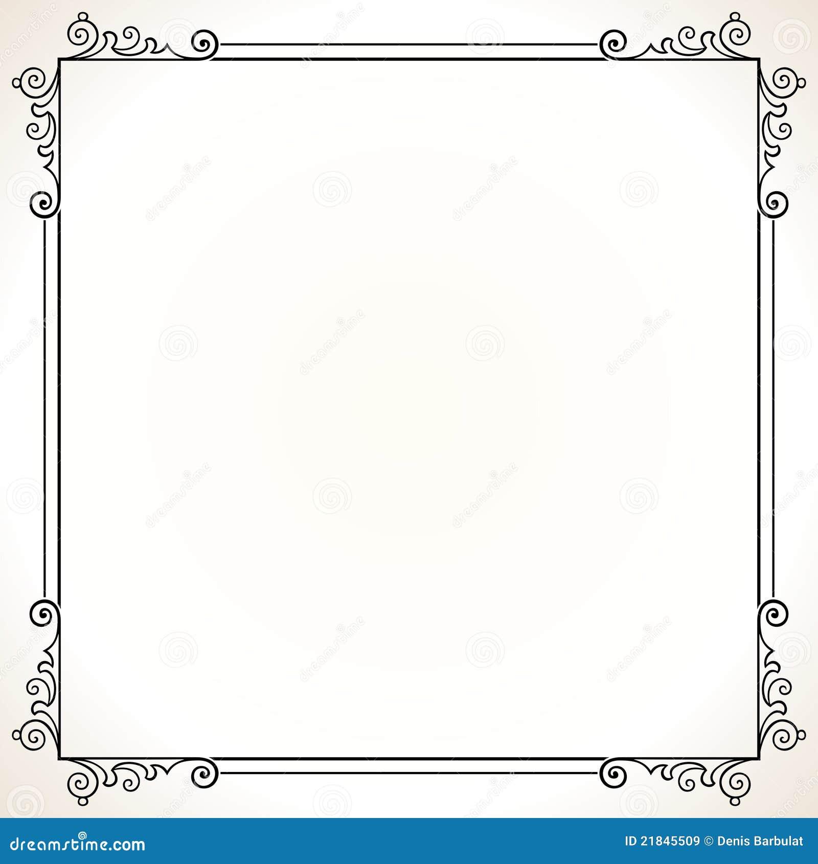 Marco elegante del vector ilustración del vector. Ilustración de ...