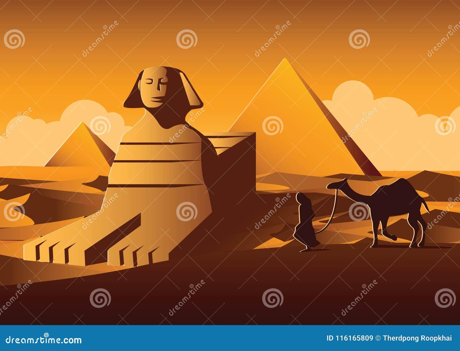 Marco Famoso Da Esfinge E Da Piramide De Egito Versao Dos