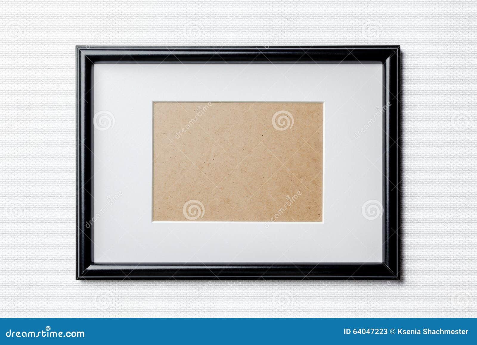 Marco Fino Negro En El Fondo Blanco De Los Ladrillos Imagen de ...
