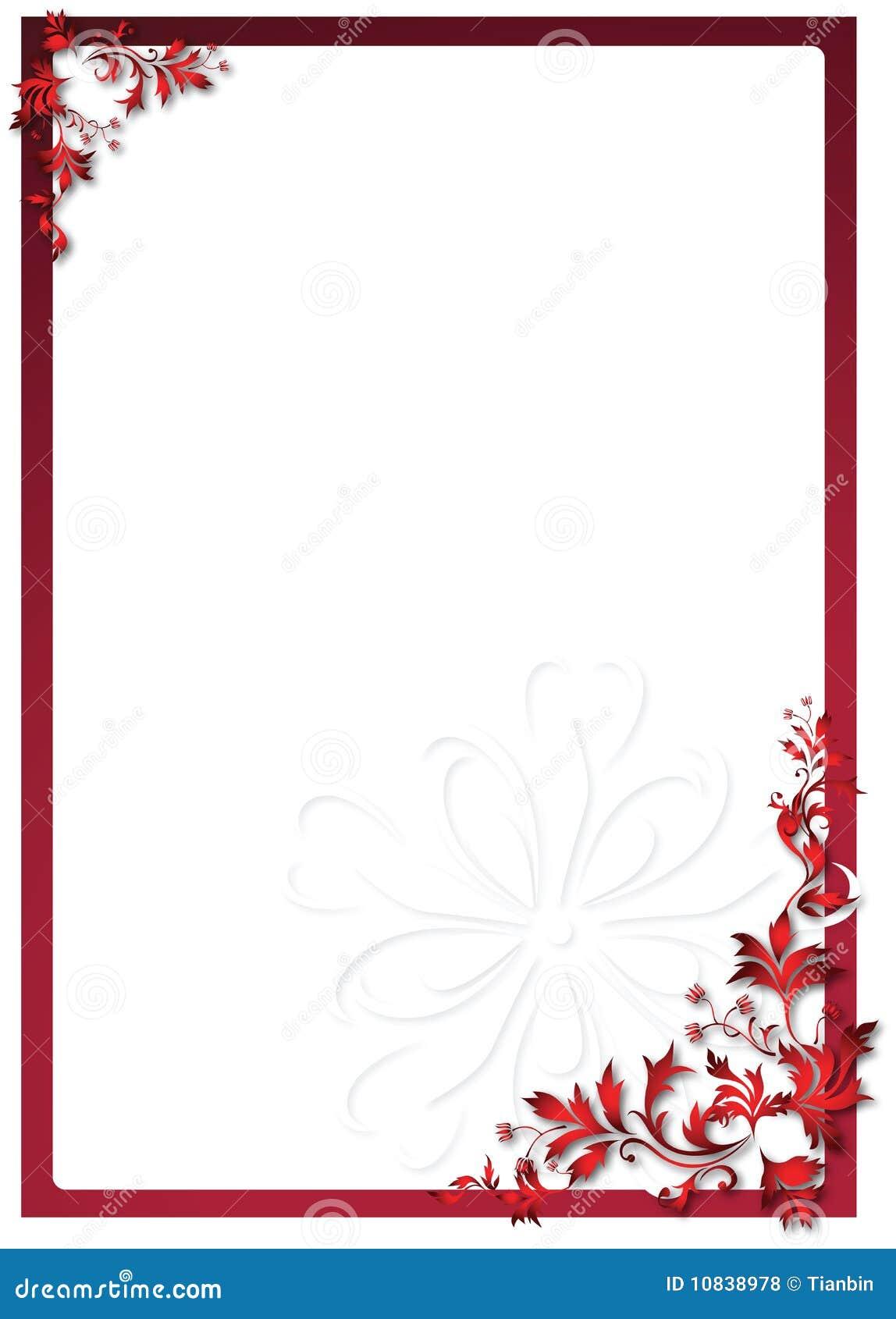 Marco Floral De La Tarjeta Del Día De San Valentín Ilustración del ...