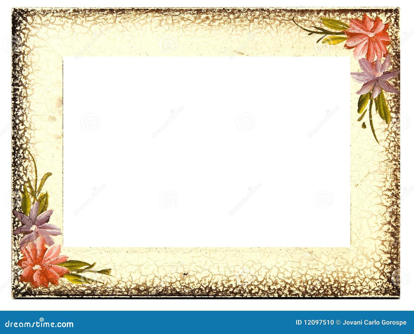 Marco floral envejecido vendimia foto de archivo imagen - Marcos de fotos pared ...