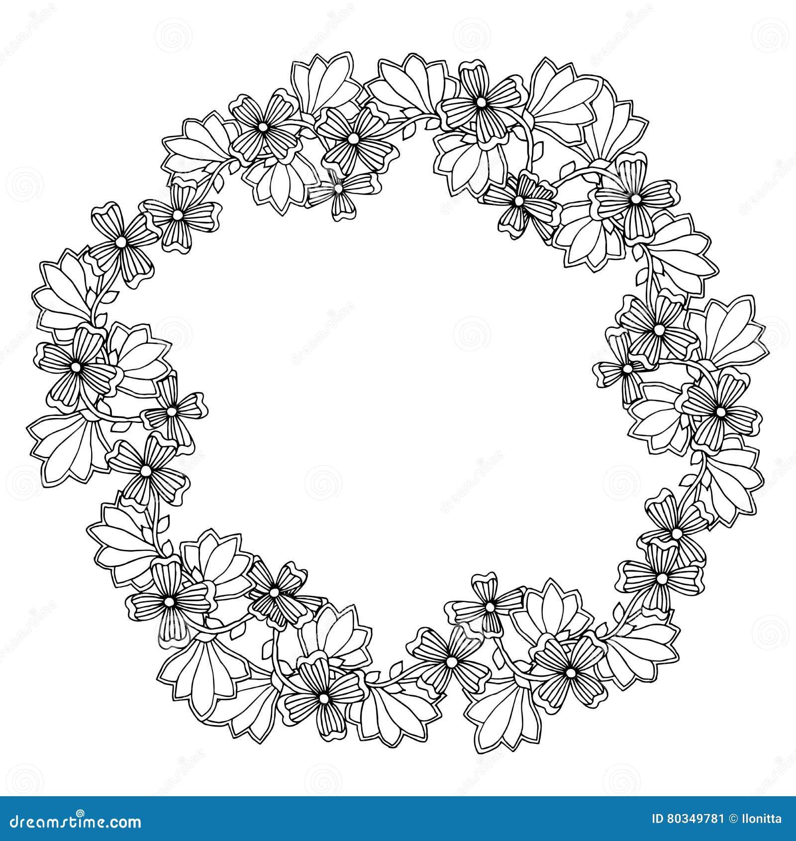 Marco Floral Ornamental Con El Espacio Para El Texto, Plantilla O ...