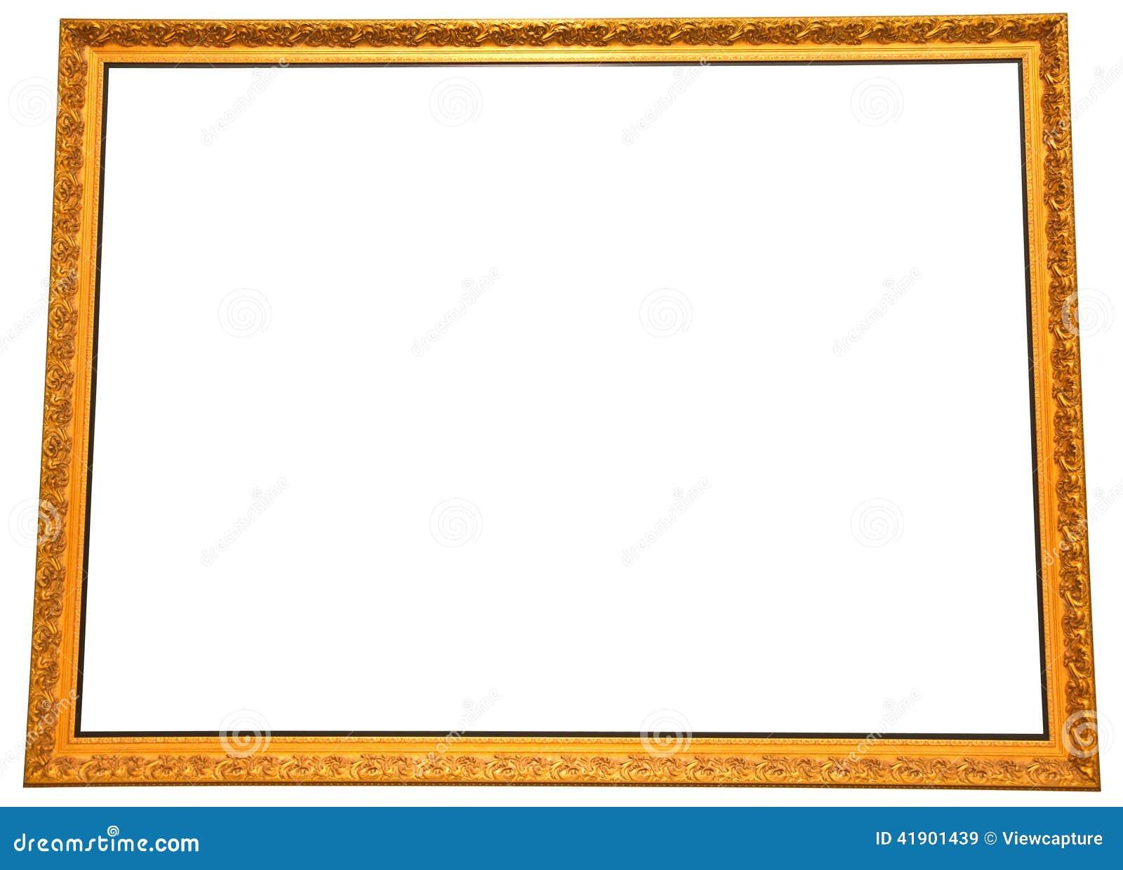 Marco grande aislado de la pintura del oro