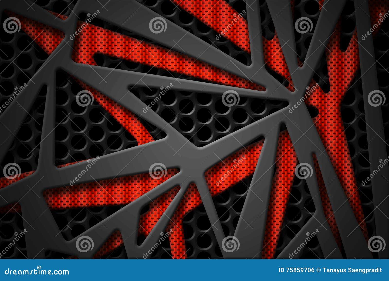 Marco gris y anaranjado de la fibra de carbono en backgrou negro del carbono de la malla
