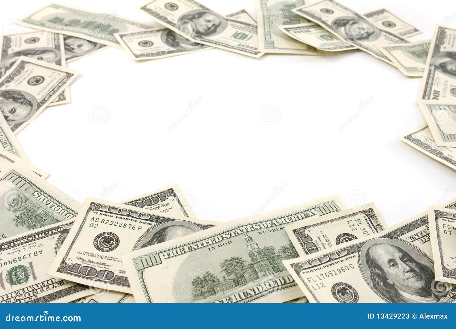 Marco Hecho De Cuentas De Dólar Imagen de archivo - Imagen de dinero ...