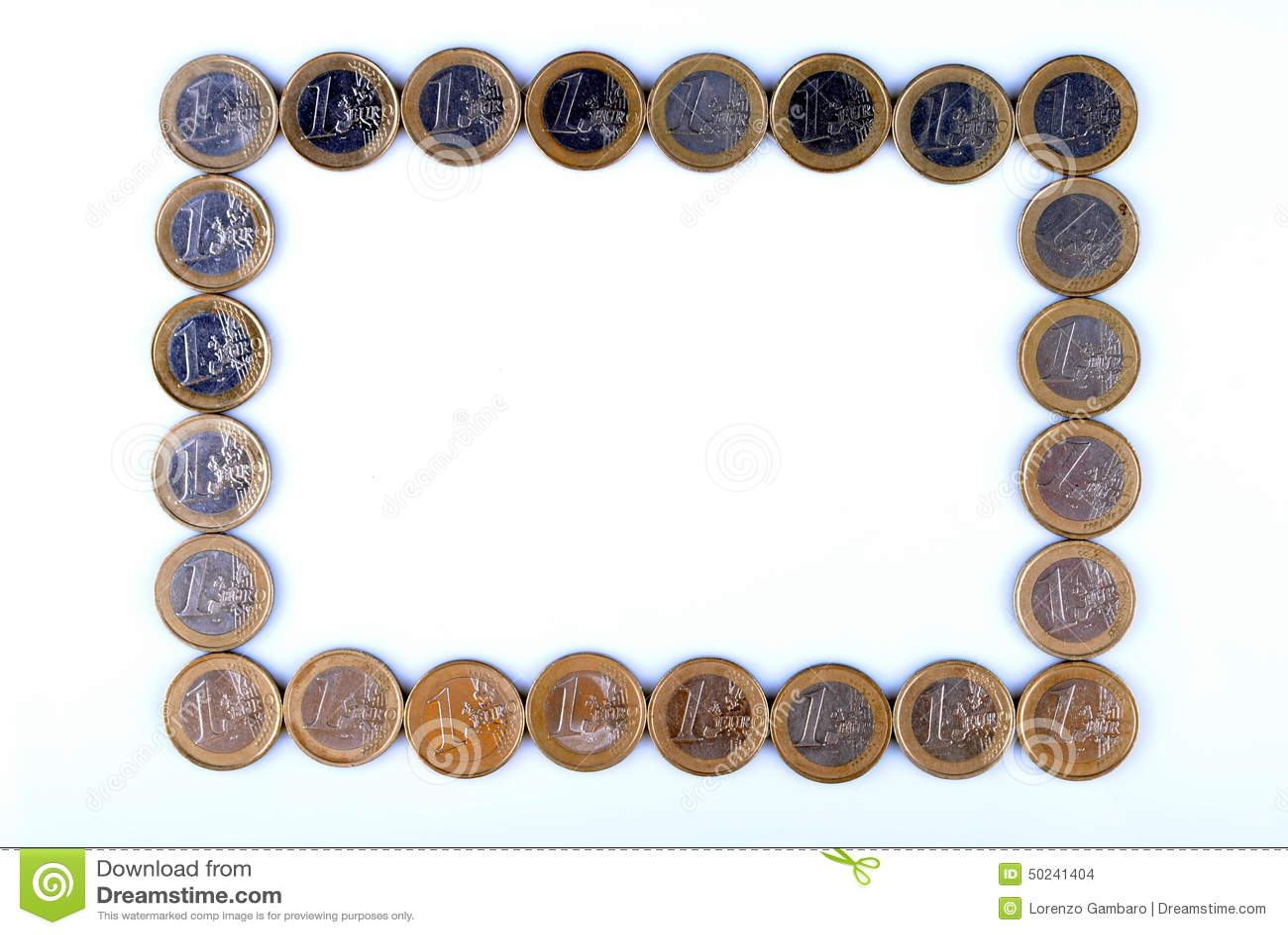 Marco Hecho De Monedas Euro Foto de archivo - Imagen de economía ...