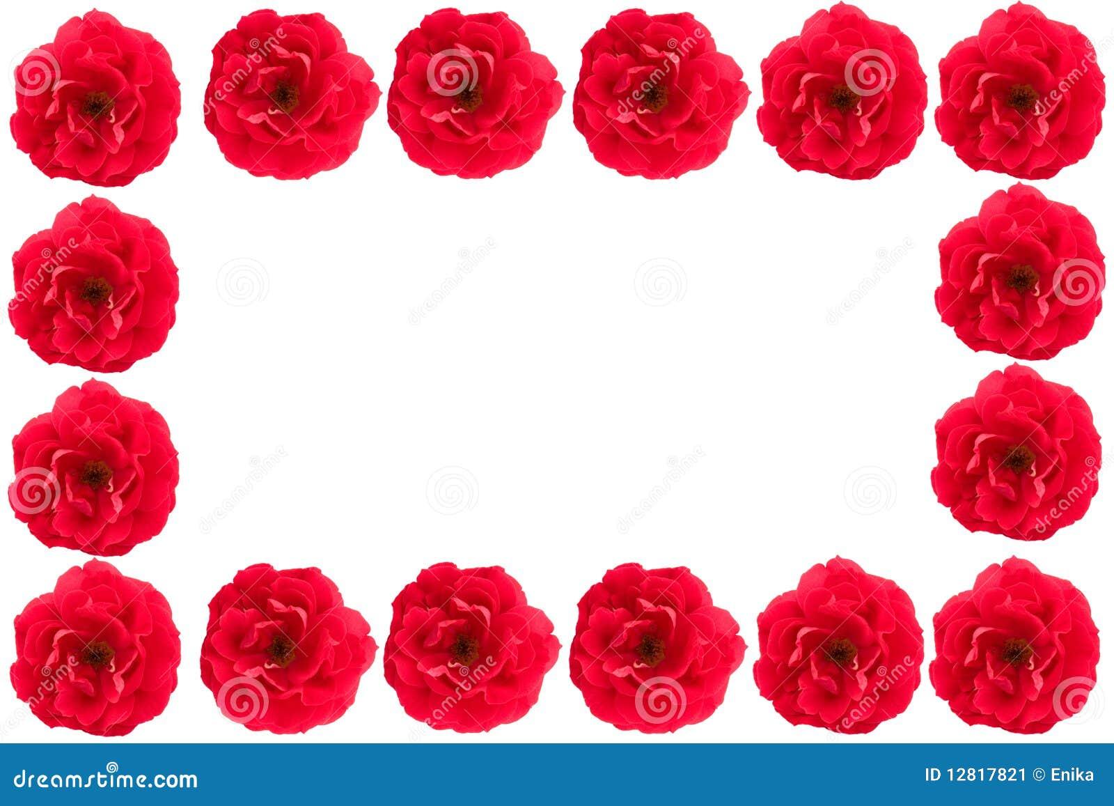 Marco Hermoso De Rosas Rojas Imagen de archivo - Imagen de objeto ...
