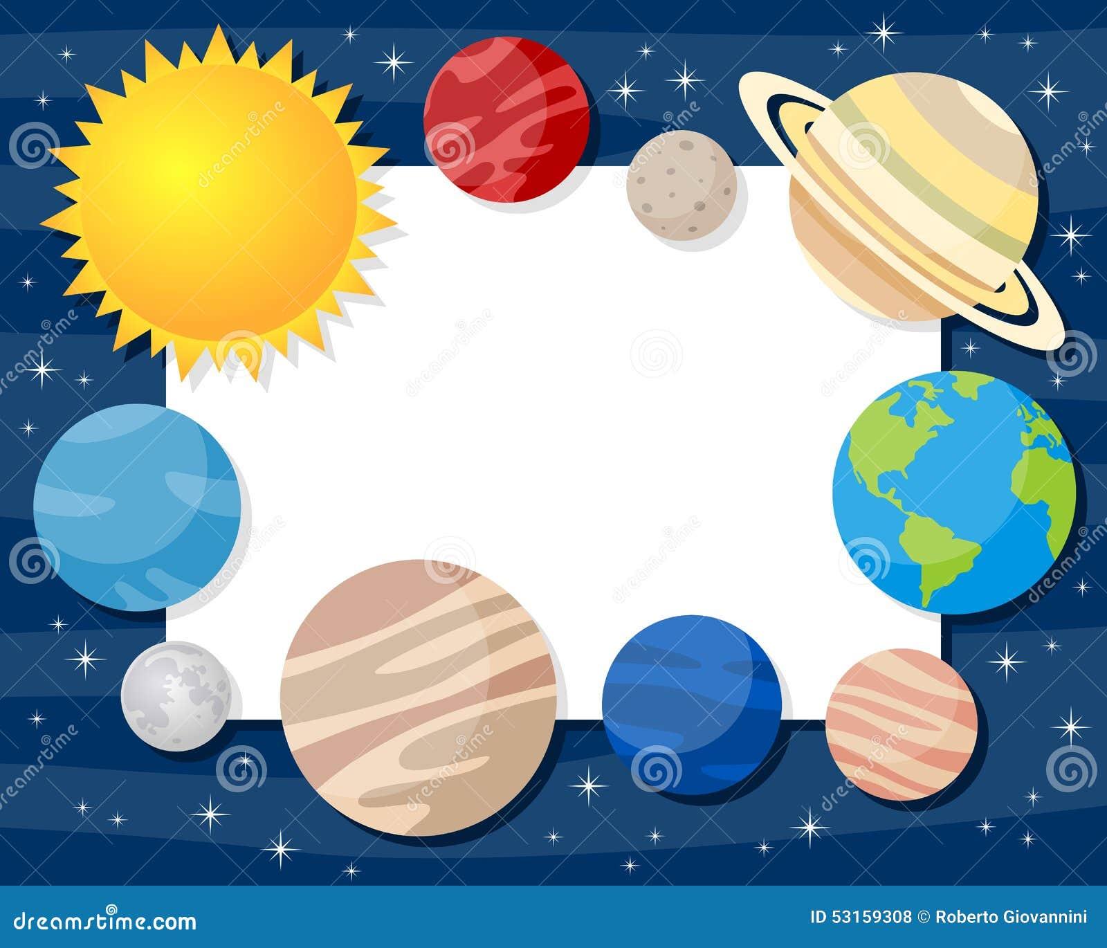Diagrama De Los Planetas La Sistema Solar Ilustracin System Planets Diagram Stock Vector Image 49592184 Marco Horizontal Del Imagen 53159308