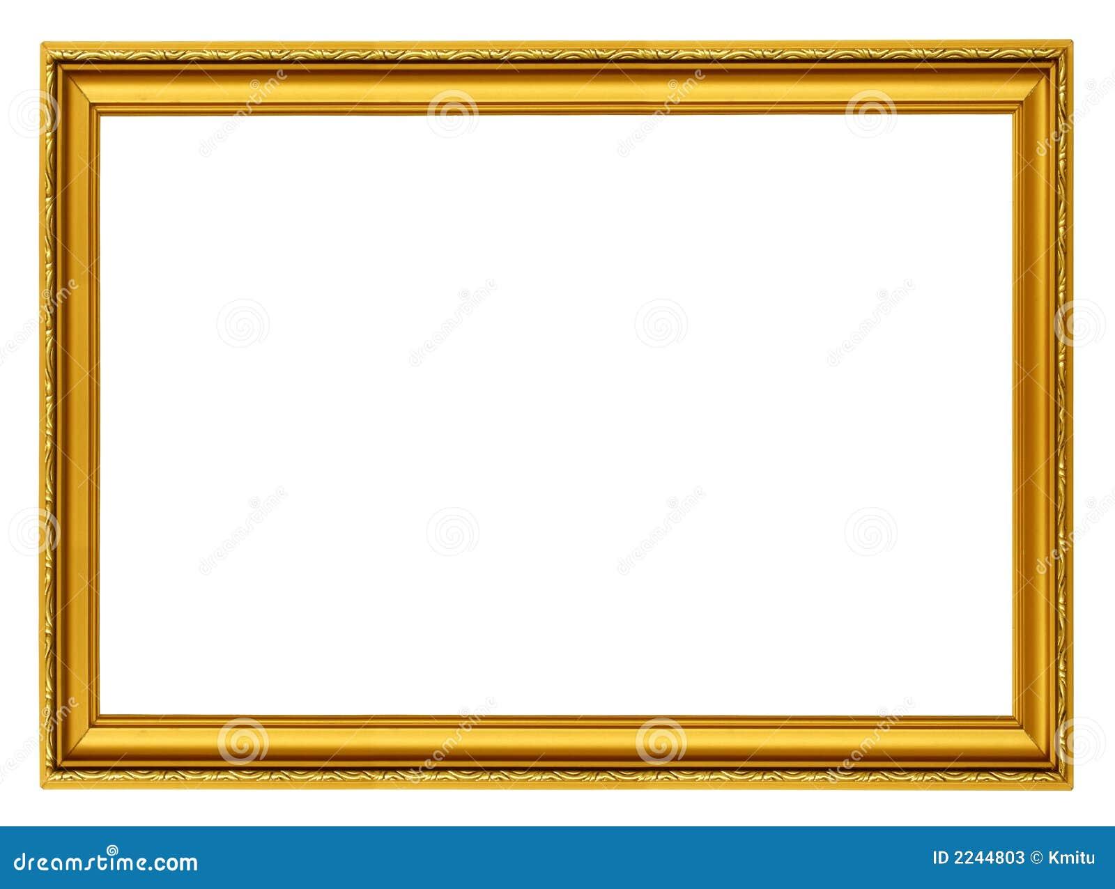 Marco horizontal de oro imagen de archivo. Imagen de envejecido ...
