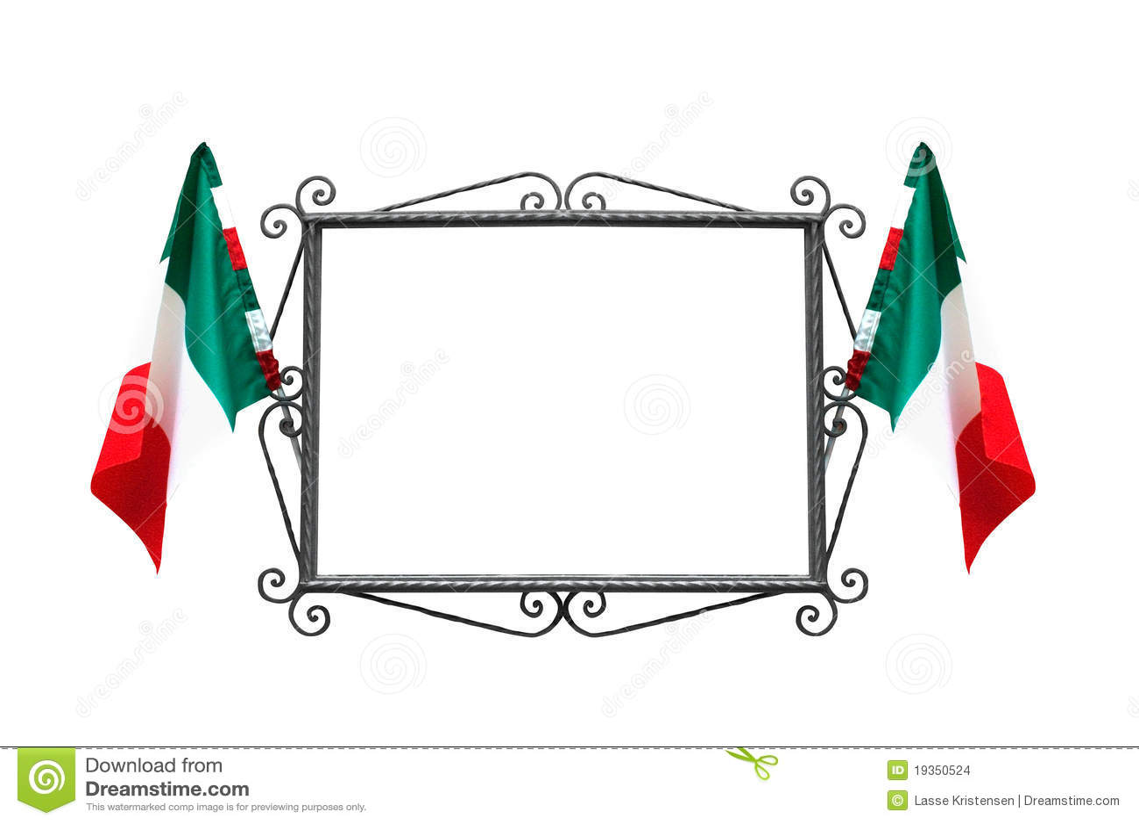 Marco Italiano Con Los Indicadores Foto de archivo - Imagen de ...