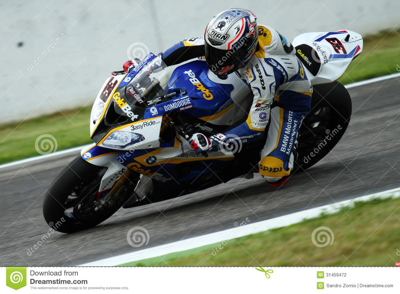 Marco Melandri #33 on BMW S1000 RR with BMW Motorrad GoldBet SBK Team Superbike WSBK