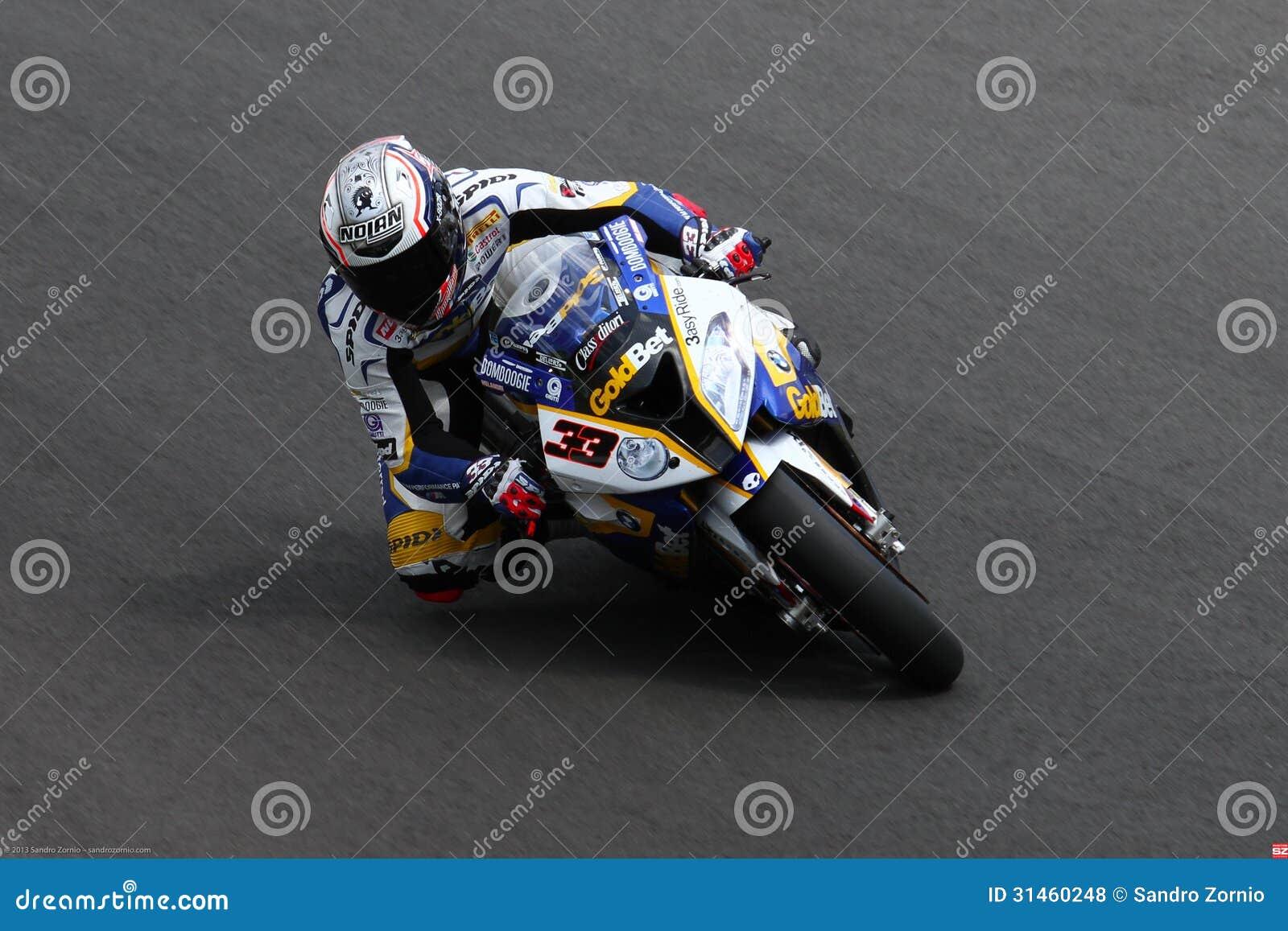 Marco Melandri #33 on BMW S1000 RR with BMW Motorrad GoldBet SBK Team Superbike WSBK