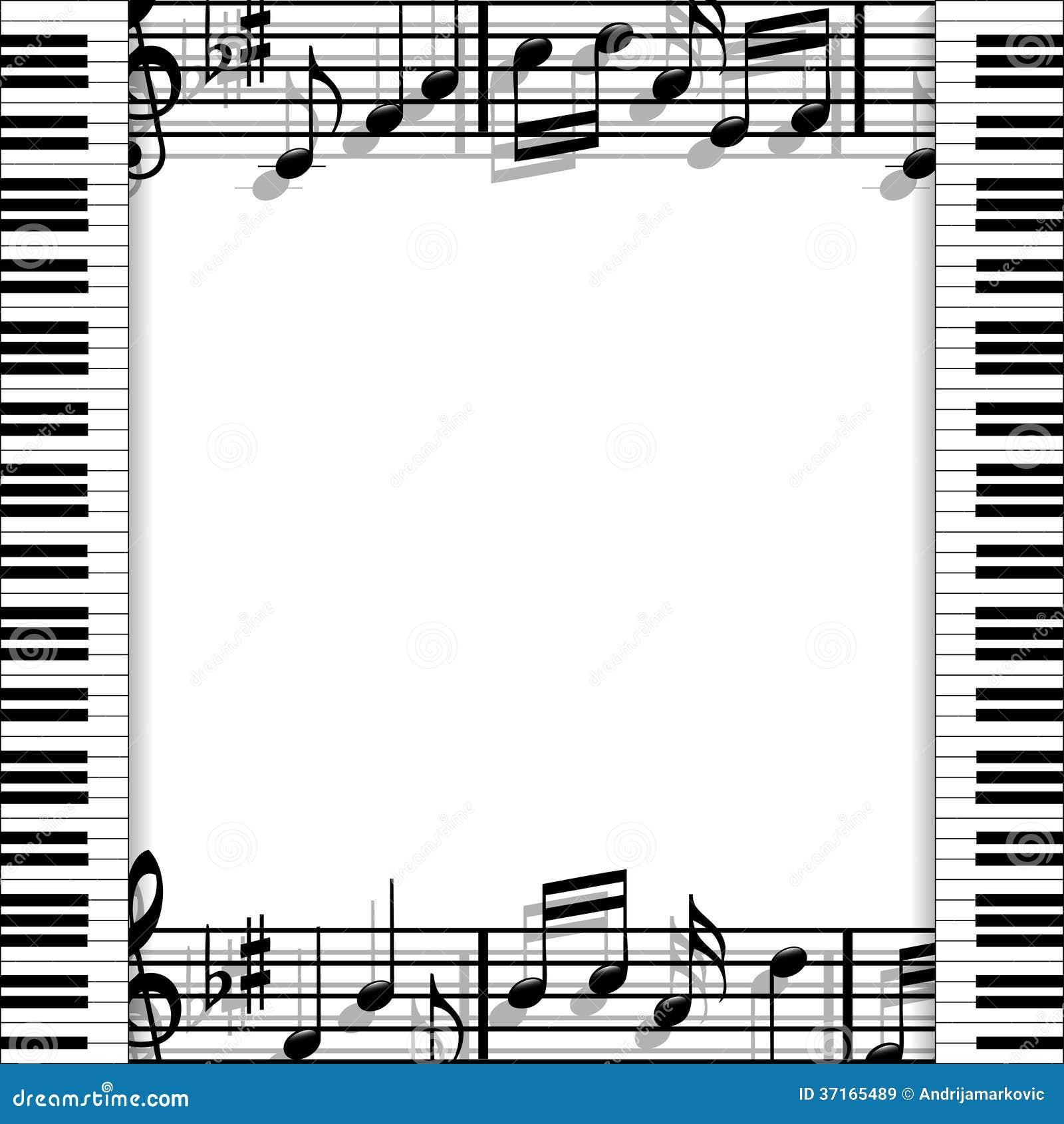 Marco musical ilustración del vector. Ilustración de sombra - 37165489