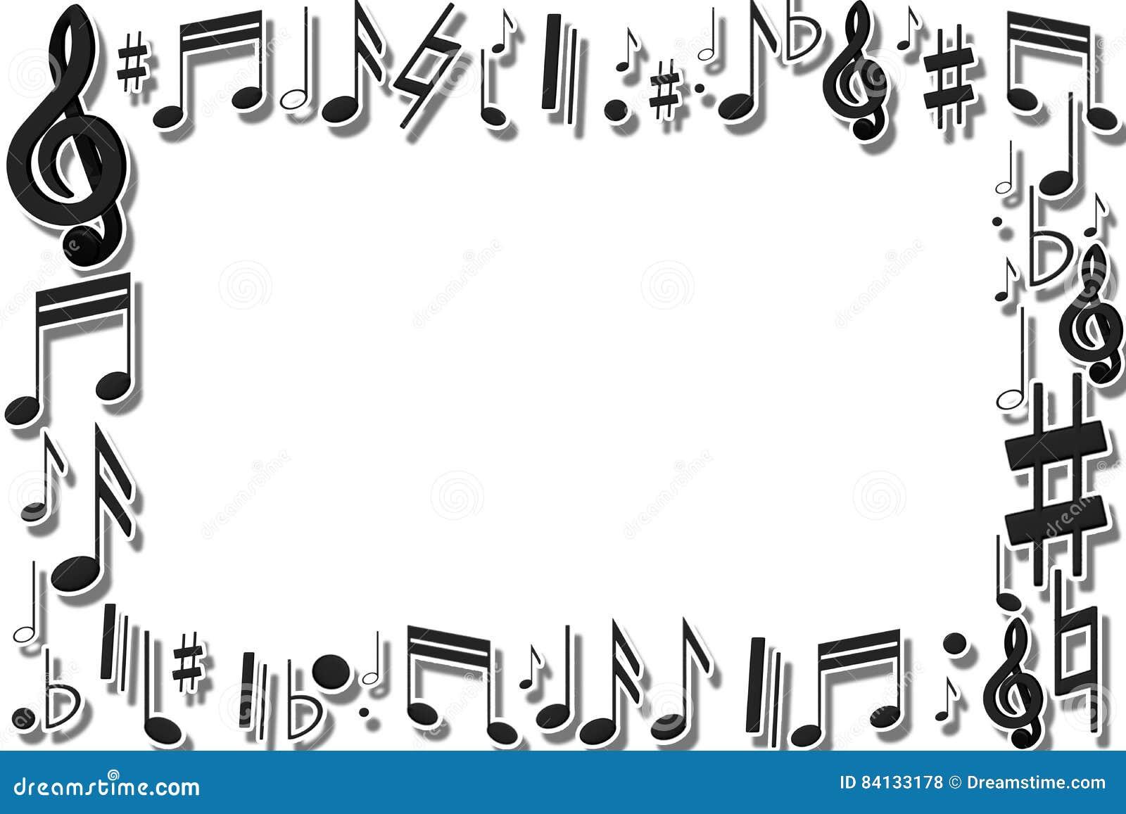 Marco musical stock de ilustración. Ilustración de imagen - 84133178