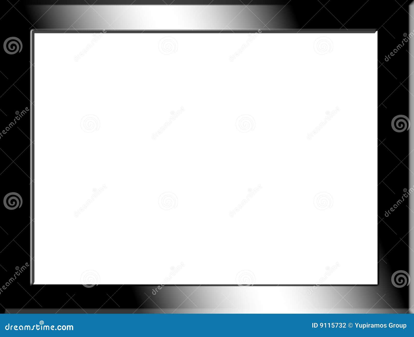 Marco negro stock de ilustración. Ilustración de cromo - 9115732