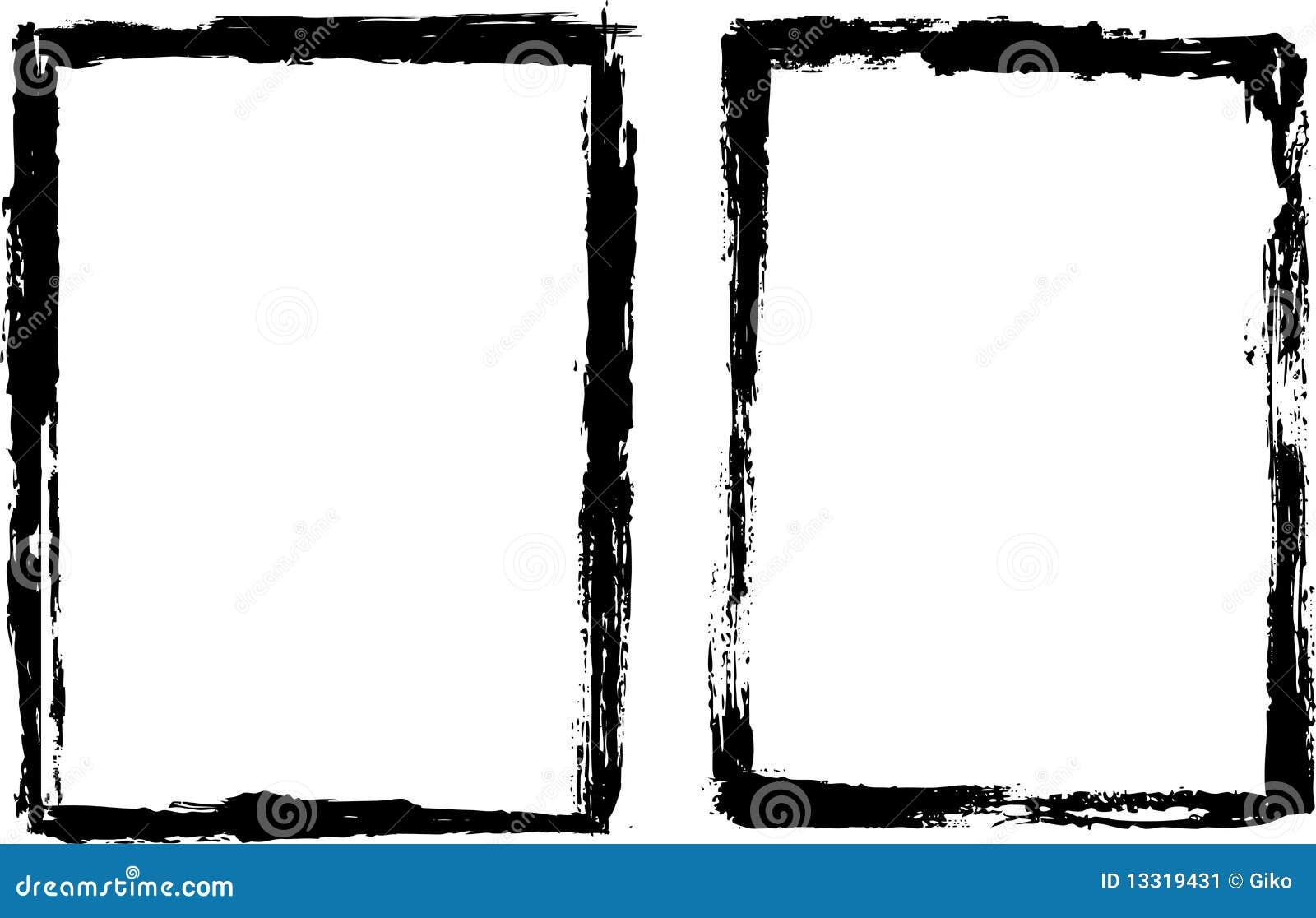 Marco negro sucio ilustraci n del vector ilustraci n de - Cuadros con marco blanco ...