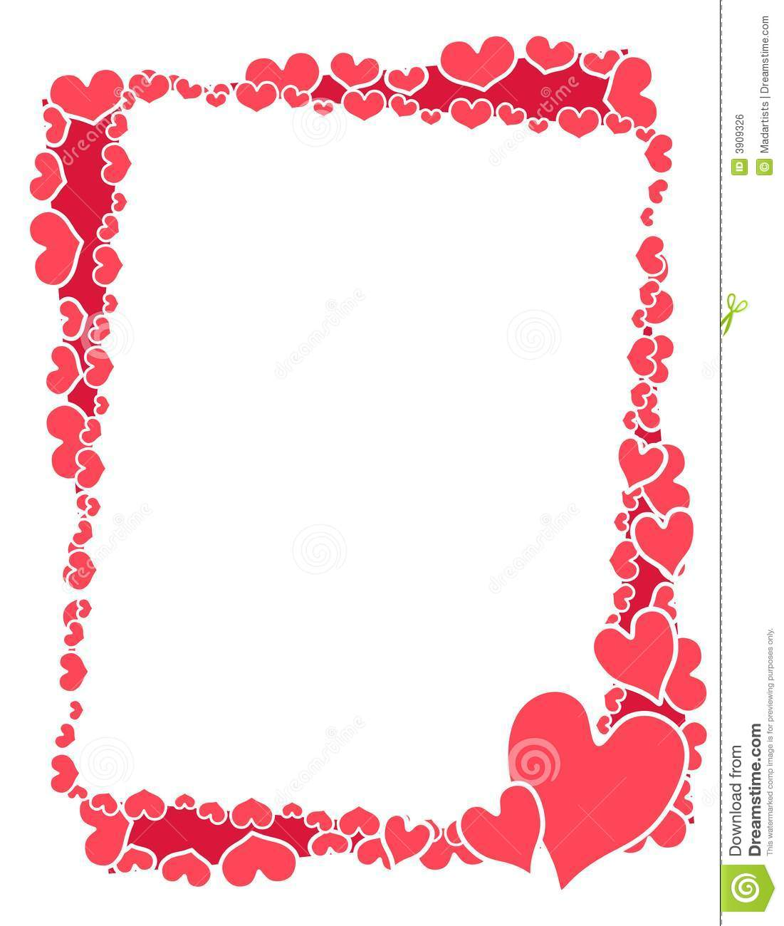 Pink Valentine Borders and Frames
