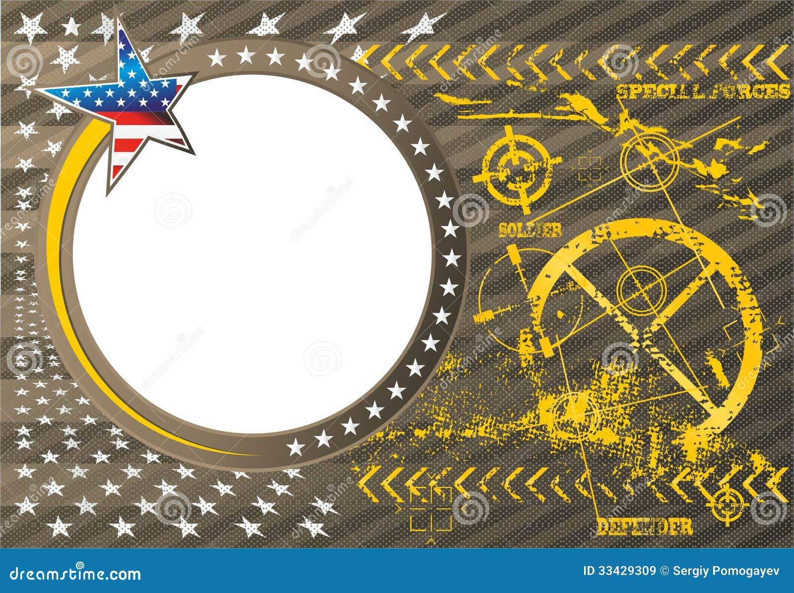 Iconos Del Símbolo Militar - Sistema Del Vector Ilustración del ...