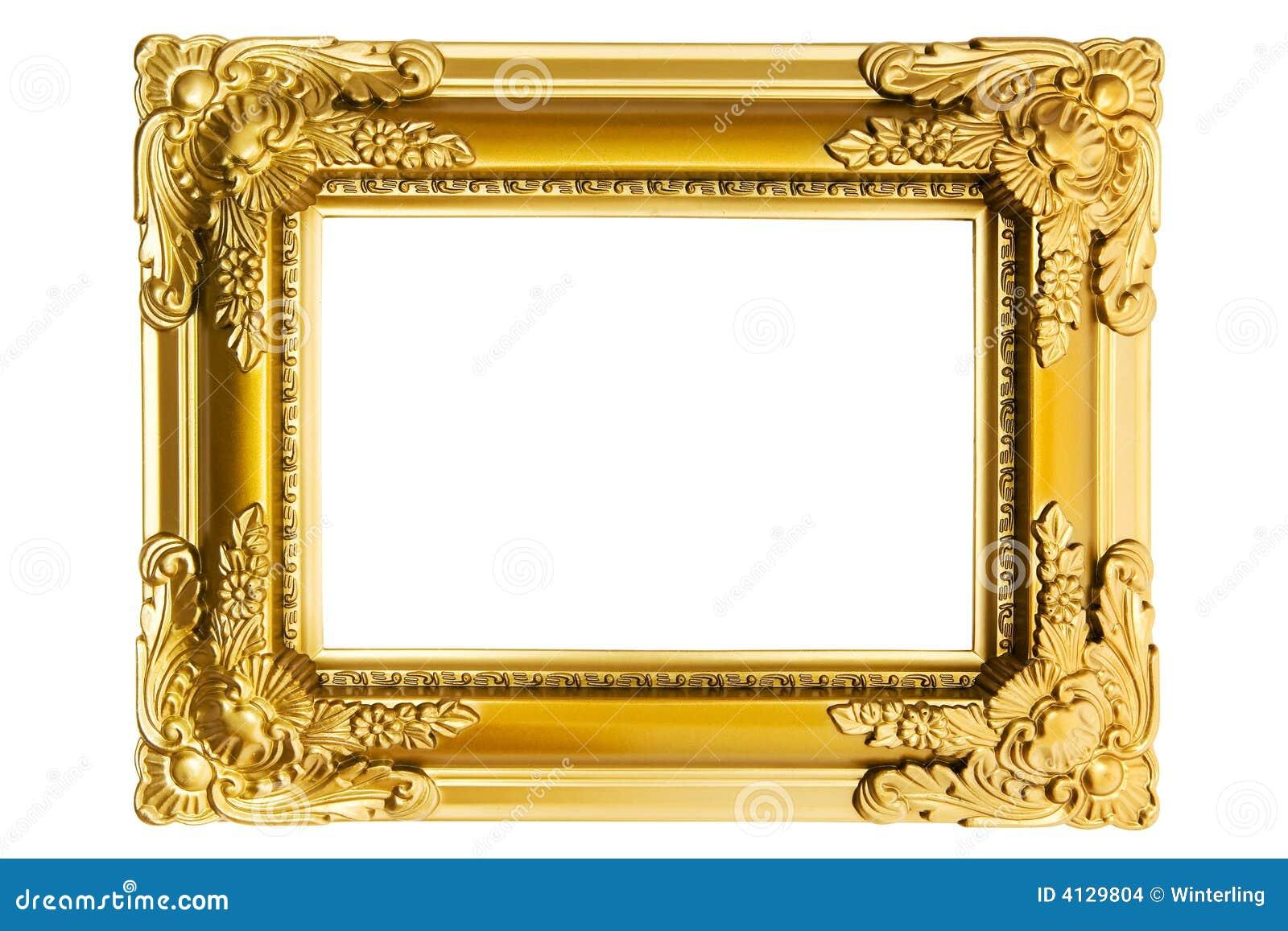 Marco plástico dorado foto de archivo. Imagen de customizable - 4129804