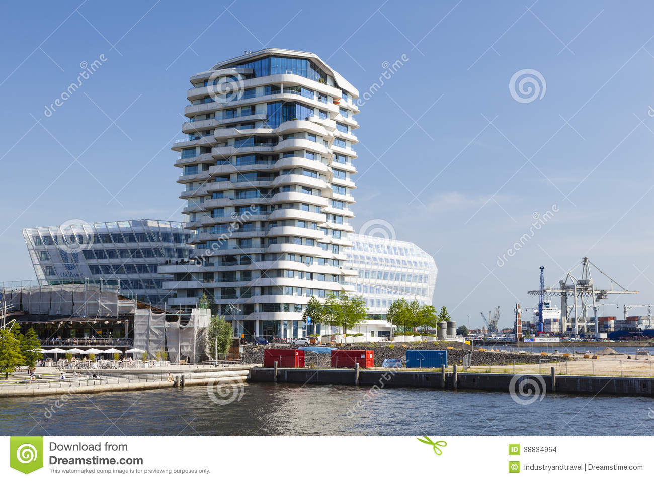 Marco Polo Tower In Hamburg, Deutschland, Redaktionell ...