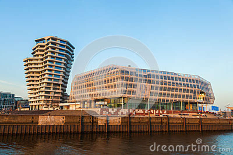 marco polo tower and unilever building in hamburg germany