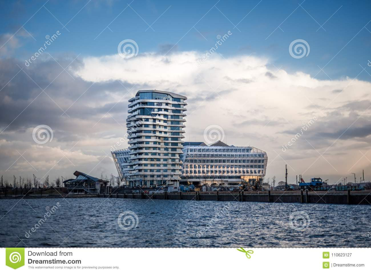 marco polo tower and unilever building in hamburg
