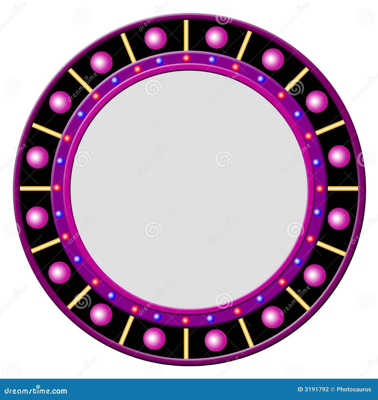 Marco redondo con las bolas que brillan intensamente for Marcos para espejos redondos