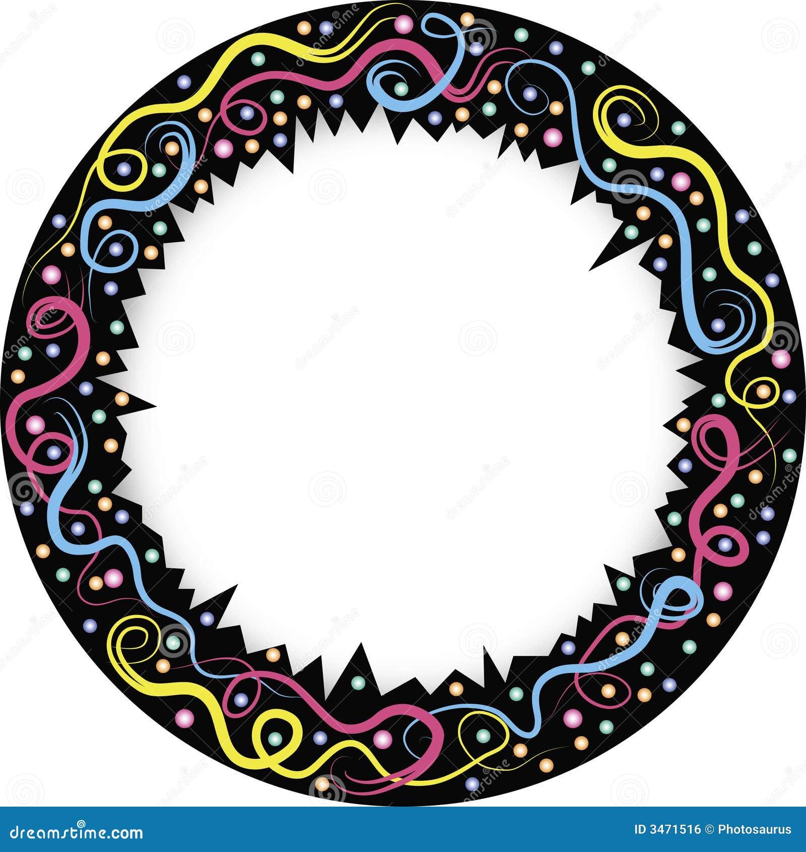 Marco redondo con las l neas ilustraci n del vector for Marcos para espejos redondos