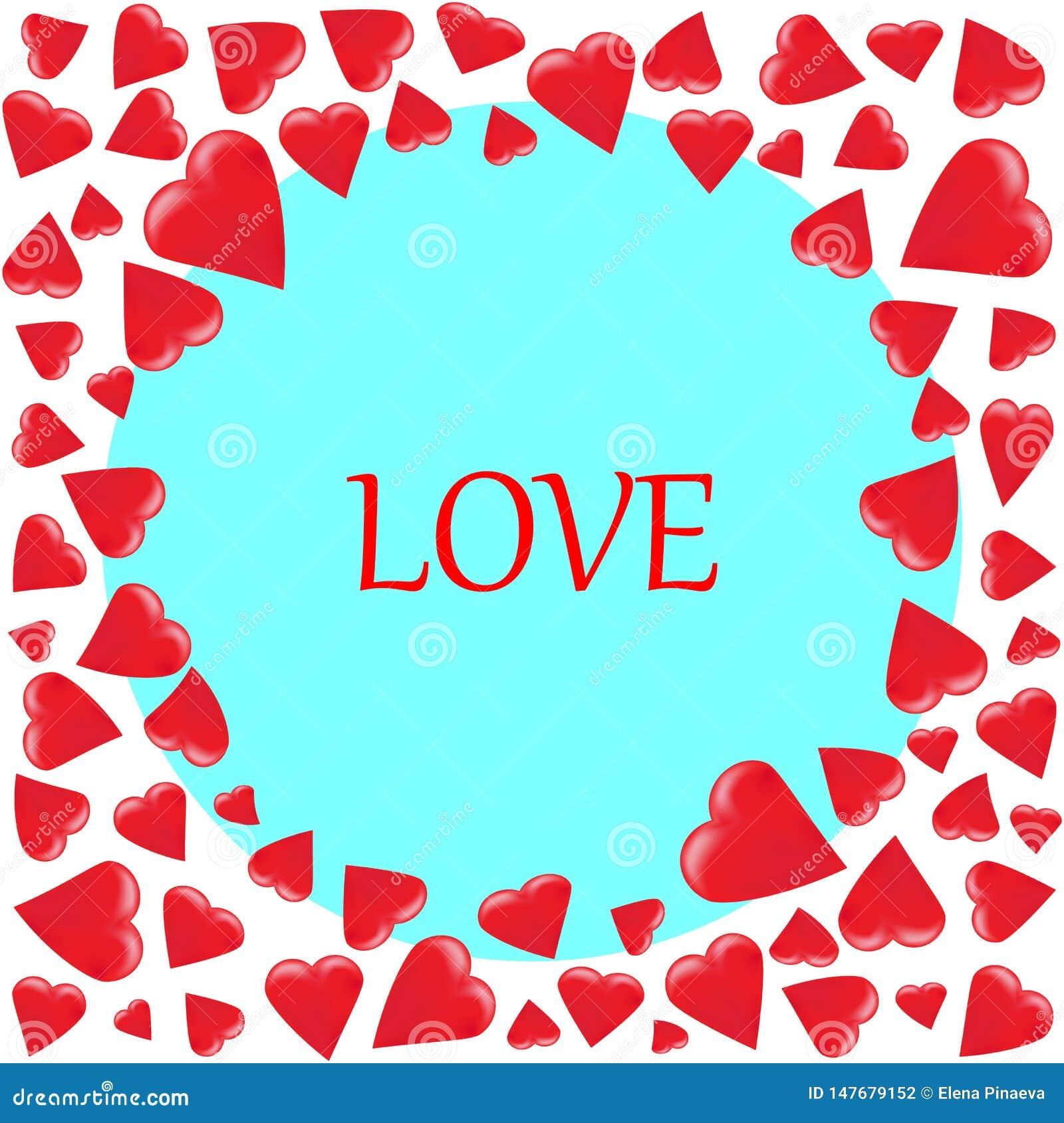 Marco redondo de diversos corazones clasificados