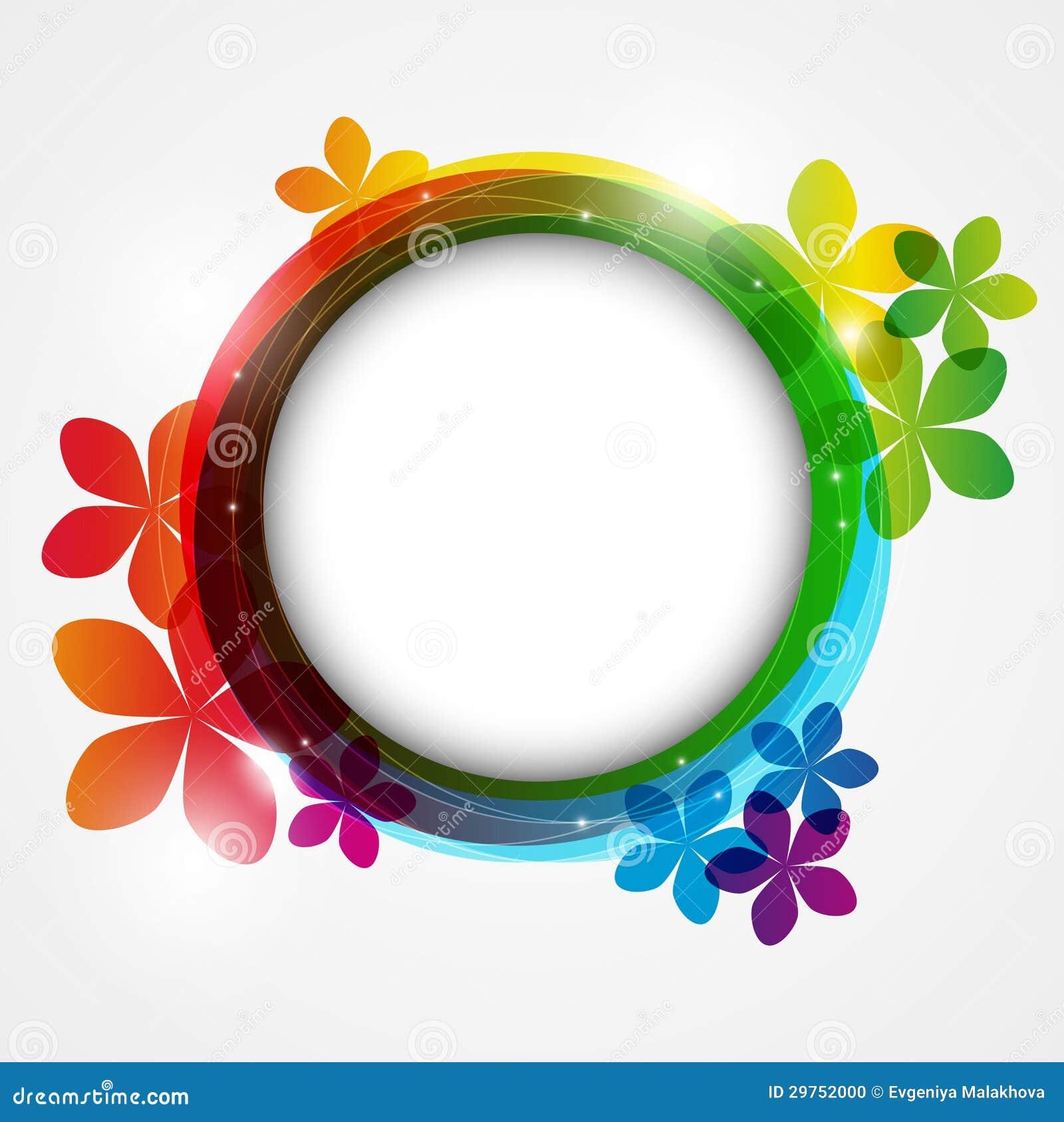 Marco redondo del color ilustraci n del vector imagen de - Marcos redondos para cuadros ...